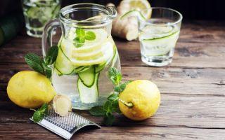 Рецепт воды с имбирем, лимоном и огурцом для быстрого похудения