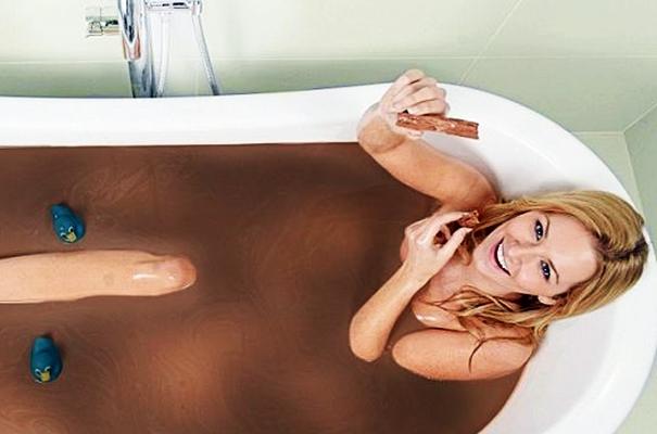 ванна с какао порошком
