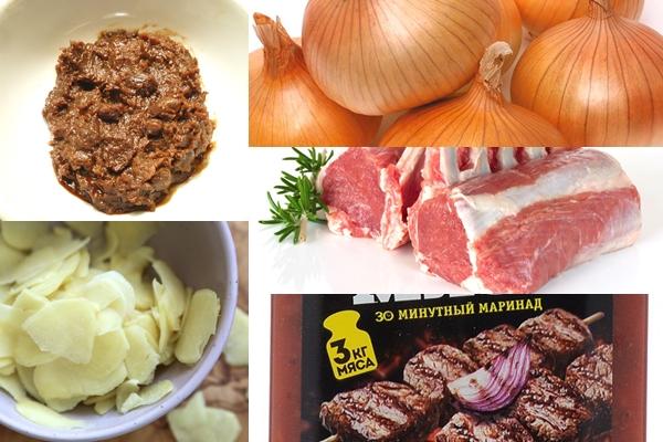 ингредиенты для тушенного ягненка с чили и имбирем