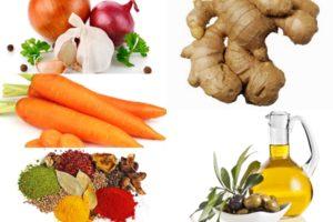ингредиенты для имбирного пюре с морковью