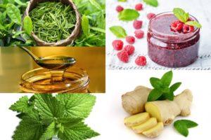 ингредиенты чая с малиной и имберем