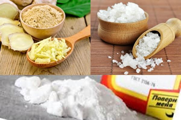имбирь морская соль и сода