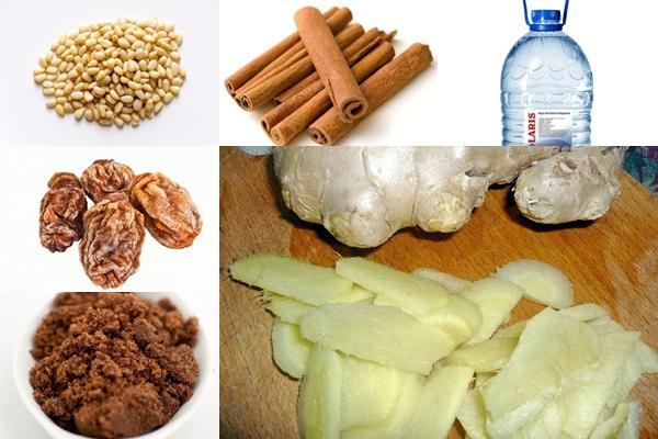 ингредиенты для имбирного пунша
