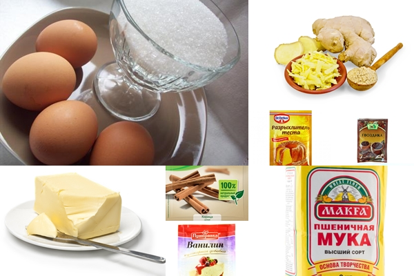 ингредиенты для шведского имбирного печенья