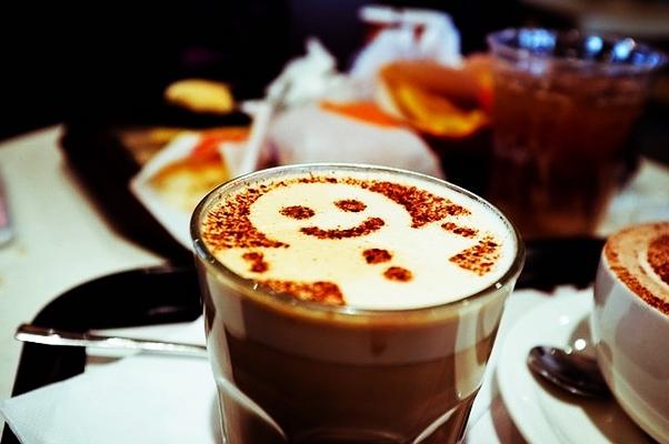 человечек на кофе