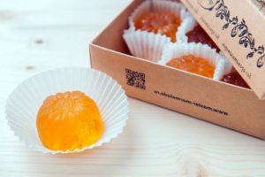красивая форма мармелада с имбирем и апельсином