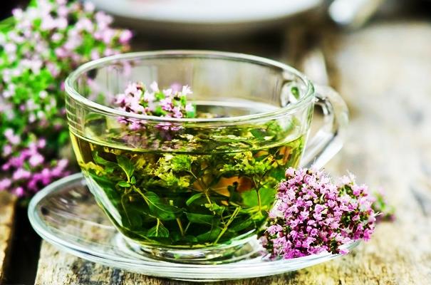 зеленый чай с чабрецом и имбирем