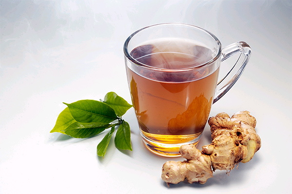чай черный с корнем имбиря