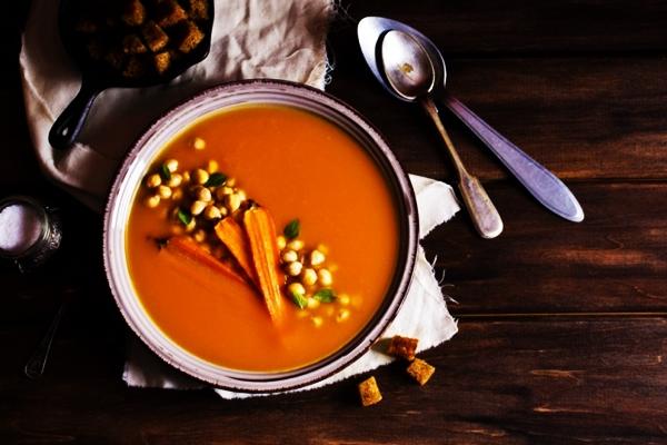 имбирно-морковный суп с нутом