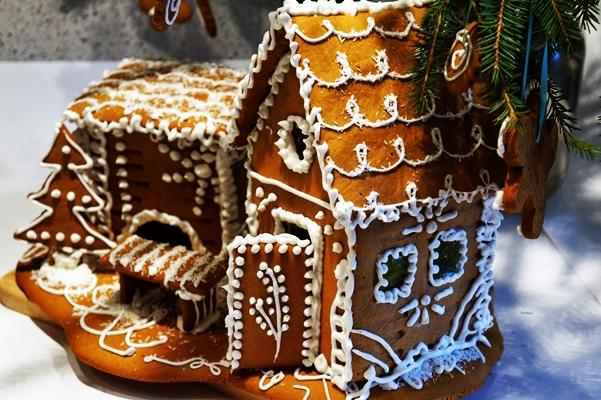 имбирный домик на зимний праздник