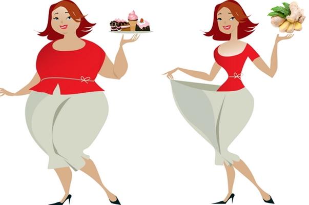 девушка с тортиком и с имбирем
