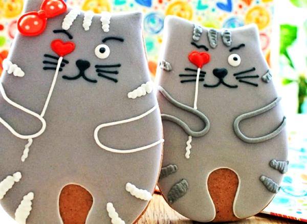имбирные пряники в форме котов