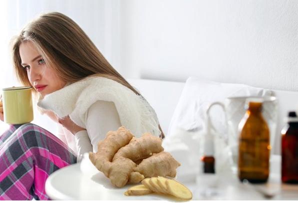 применение имбиря при больном горле