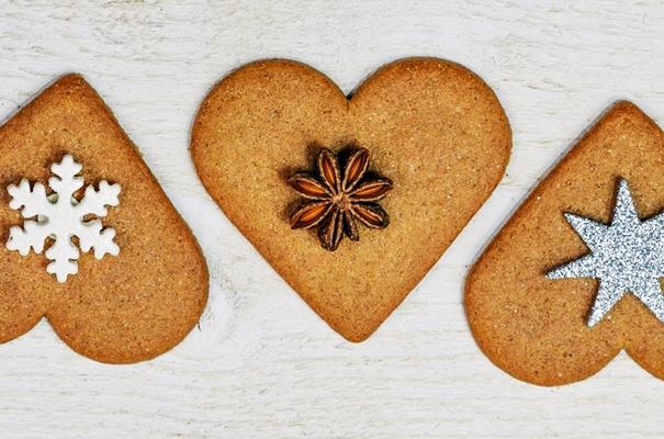 имбирные пряники в форме сердца