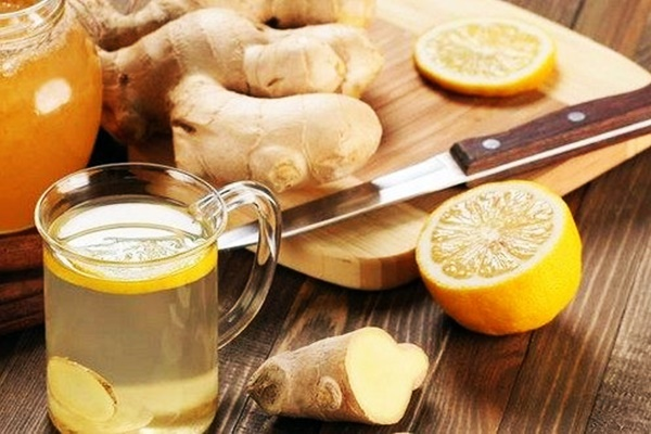 имбирный сок с медом и лимоном