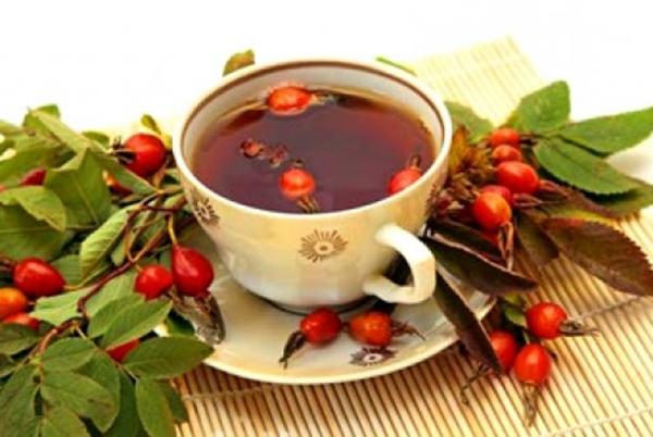 чай с имбирем и шиповником