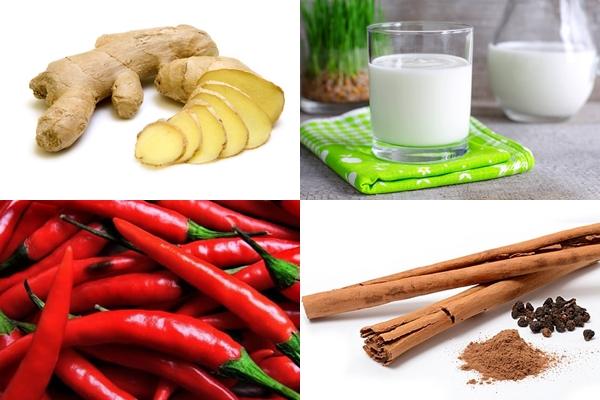 красный перец, корица, имбирь и кефир