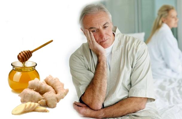 мужчина с простатитом и имбирь с медом