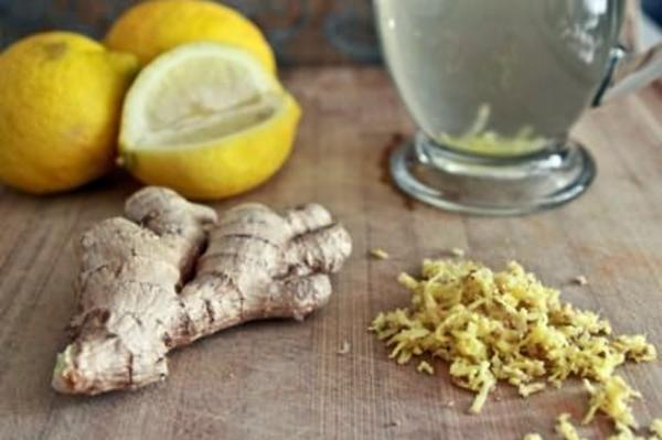 настой корня имбиря с лимоном