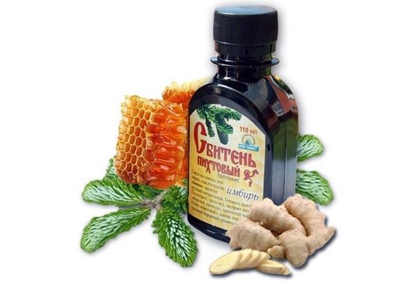 флакон сбитня на меду с имбирем