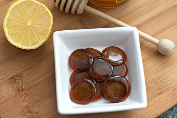леденцы с имбирем, медом и имбирем