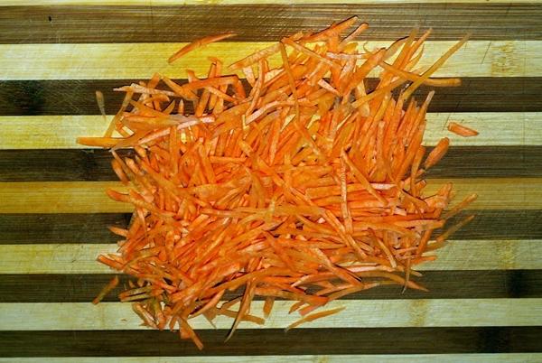 морковь соломкой для супа