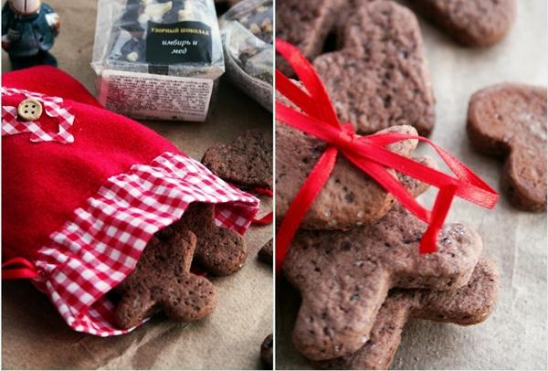 постное печенье с имбирем и какао