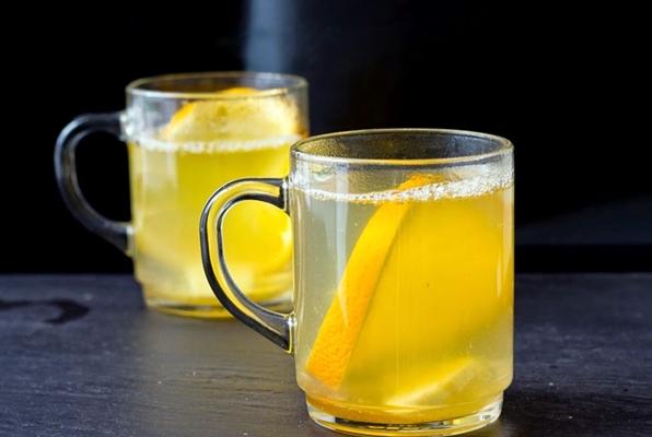 чай с имбирем, апельсином и лимонным соком