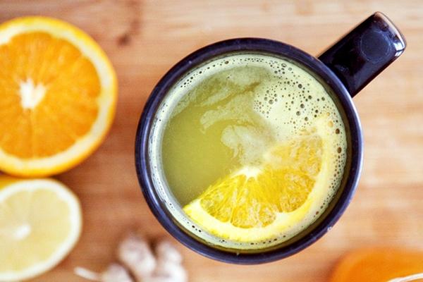классический вариант чая с имбирем и апельсином