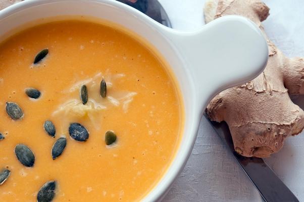 суп с тыквой и имбирем