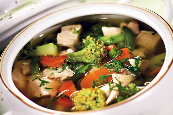 суп с брокколи и имбирем