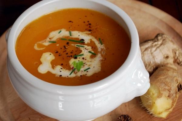 диетический суп с корнем имбиря