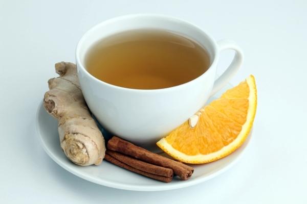 чай с имбирем, апельсином и корицей для похудения