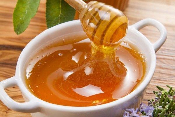 мед в миске