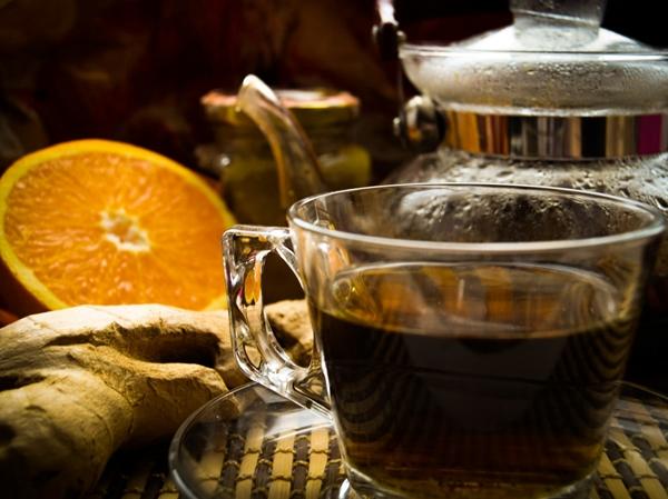 черный чай с имбирем и лимоном
