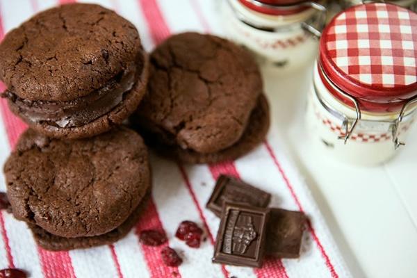 имбирное шоколадное печенье