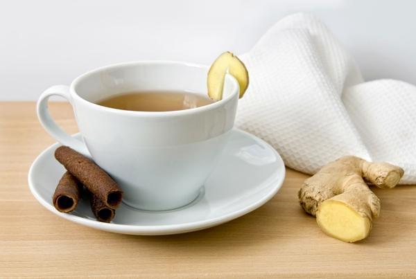 имбирный чай с имбирем и корицей