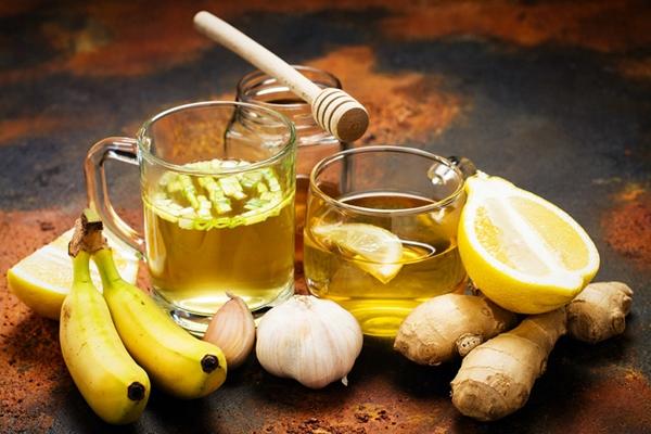 имбирный чай с лимоном и чесноком