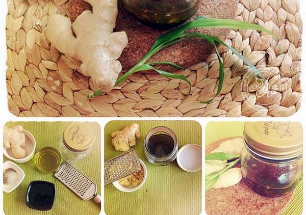 процесс приготовления имбирного соуса