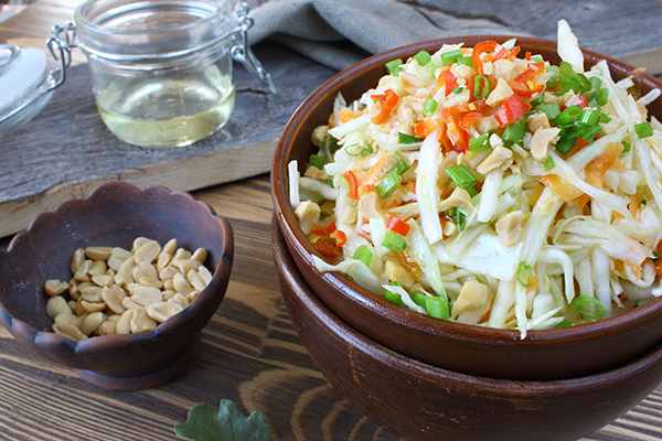 Салат с морковью,перцем,имбирем