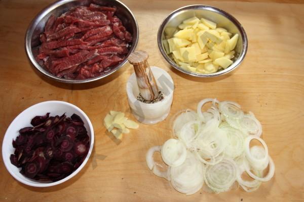 Баранина с соевым соусом и имбирем