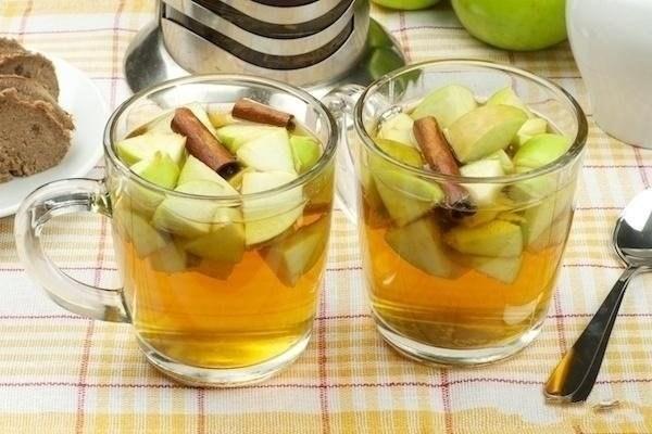 имбирный час с корицей и яблоками