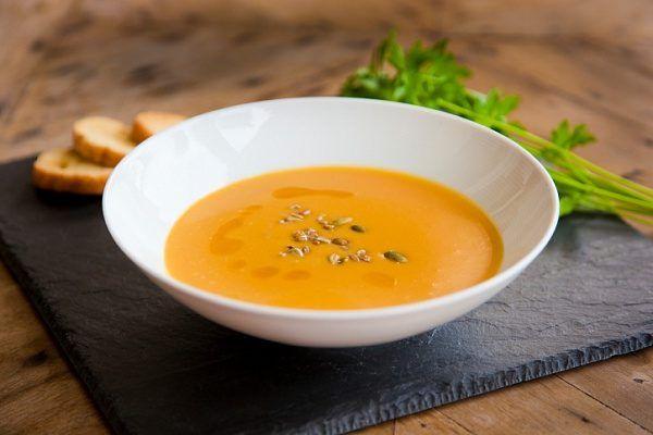острый тыквенный суп с имбирем